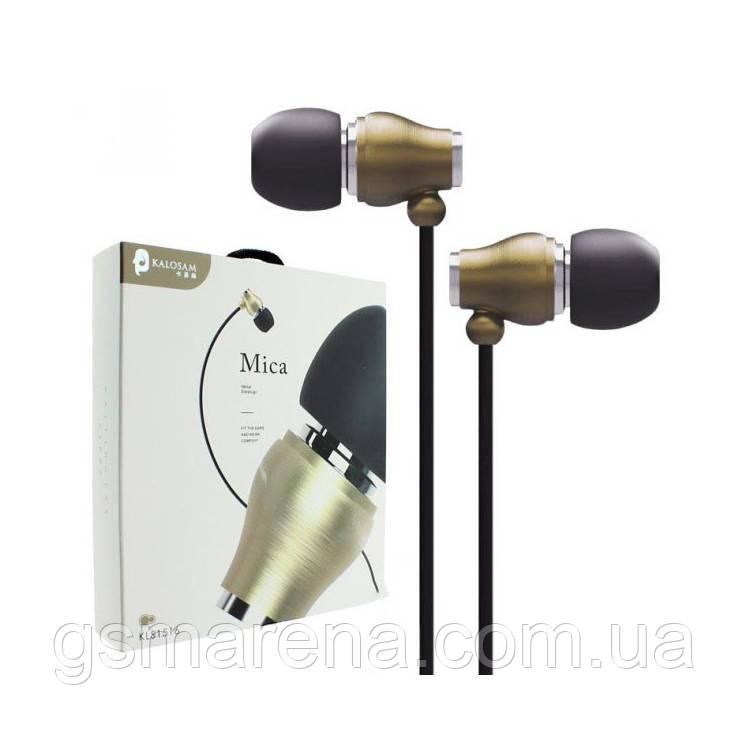 Наушники с микрофоном Kalosam KLS1516 черно-Золотой