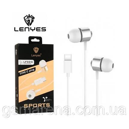 Наушники с микрофоном Lenyes LF33-C Type-C бело-Серый, фото 2