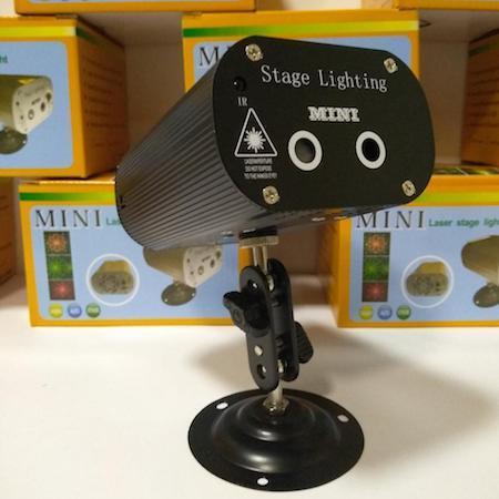 Лазерный проектор Mini Laser Stage Light LED 24 RGB с пультом управления