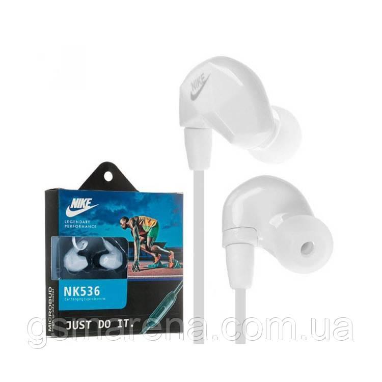 Наушники с микрофоном Nike NK-535/S536 Белый