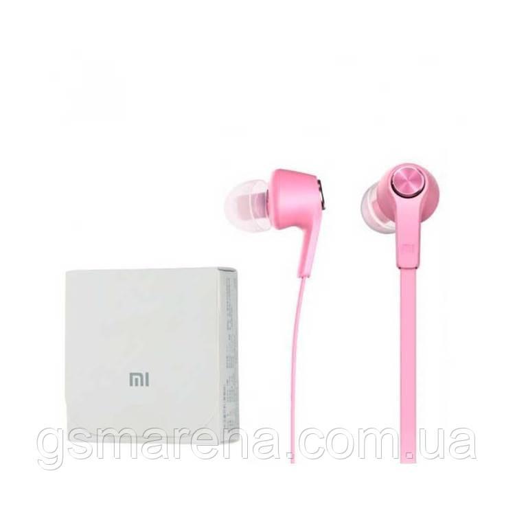 Наушники с микрофоном Xiaomi Piston 5 Розовый