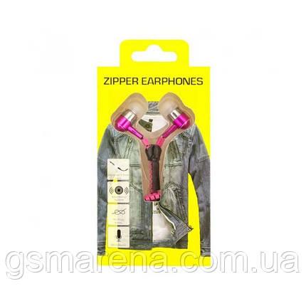 Наушники с микрофоном Zipper Желтый puck Розовый, фото 2