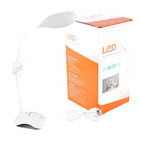 Настольная лампа Small Sun ZY-E6, 32+24SMD(лампа)+6SMD(ночник), встр.аккум/USB, ЗУ micUSB, вентилятор