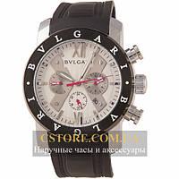 Механические мужские часы Швейцарские Bvlgari Rose black silver