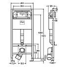 Комплект: GAP Rimless унитаз подв. с сид. Slim + PREVISTA DRY элемент для унитаза 112*49cм + комплект крепл., фото 3