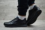 Кроссовки кожаные мужские Reebok чёрные, фото 2