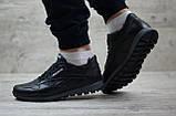 Кроссовки кожаные мужские Reebok чёрные, фото 7