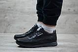 Кроссовки кожаные мужские Reebok чёрные, фото 9