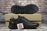 Кроссовки чёрные кожаные мужские Reebok, фото 4