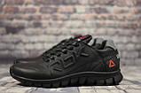 Кроссовки чёрные кожаные мужские Reebok, фото 5