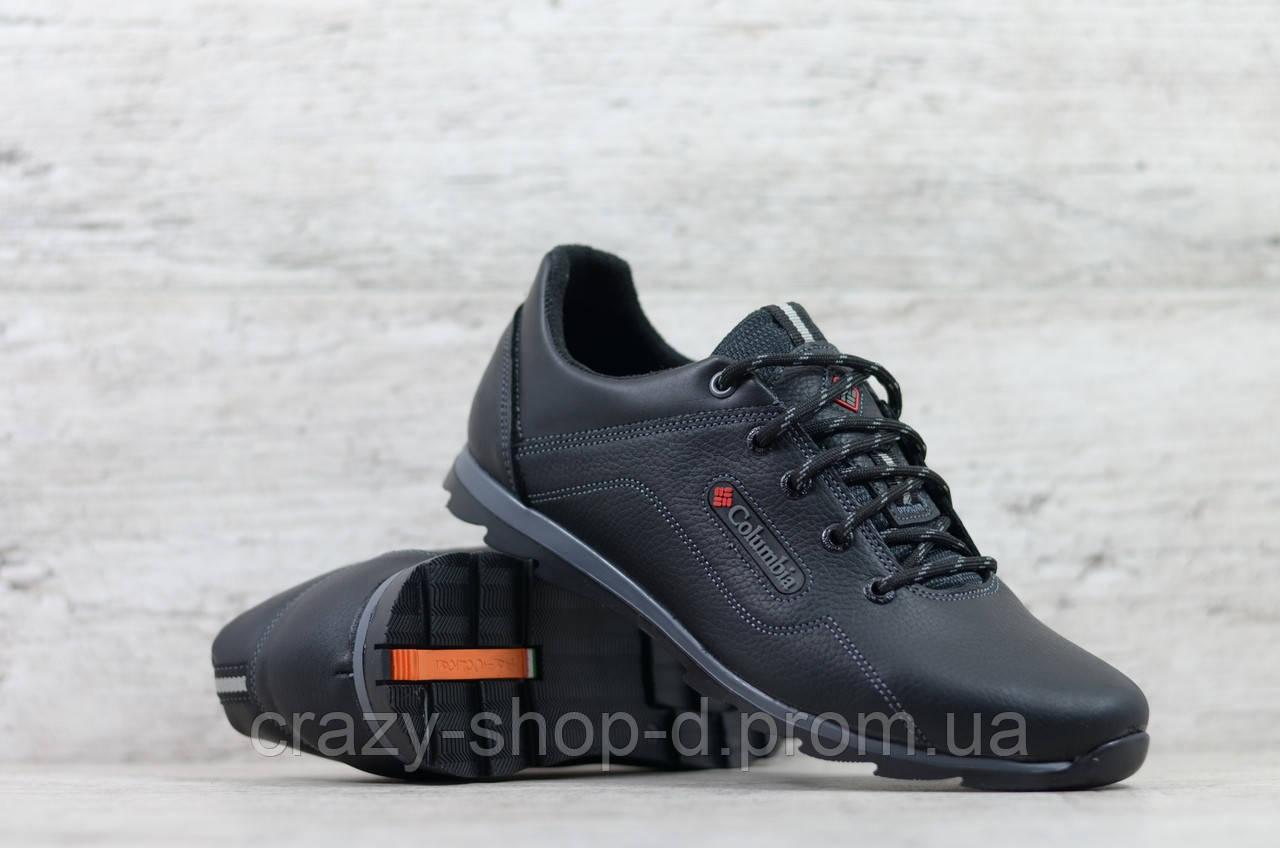 Кроссовки мужские кожаные черные Columbia 600