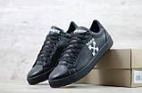 Кеды мужские спортивные кожаные чёрные Off White, фото 4