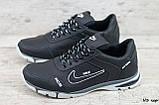 Кроссовки мужские кожаные Найк Nike черные на шнуровке, фото 2