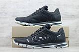 Кроссовки мужские кожаные Найк Nike черные на шнуровке, фото 3