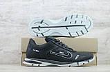 Кроссовки мужские кожаные Найк Nike черные на шнуровке, фото 5