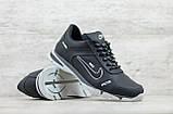 Кроссовки мужские кожаные Найк Nike черные на шнуровке, фото 6