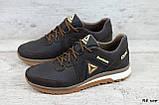 Мужские кожаные кроссовки Reebok Classic Brown на шнуровке, фото 2