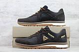 Мужские кожаные кроссовки Reebok Classic Brown на шнуровке, фото 5