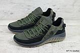Кроссовки мужские кожаные хаки на шнуровке IceField зелёные, фото 2