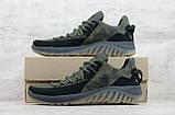 Кроссовки мужские кожаные хаки на шнуровке IceField зелёные, фото 4