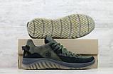 Кроссовки мужские кожаные хаки на шнуровке IceField зелёные, фото 5