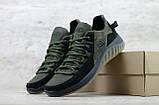 Кроссовки мужские кожаные хаки на шнуровке IceField зелёные, фото 6