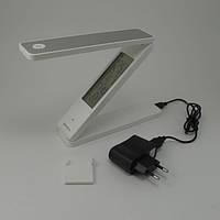 Настольная светодиодная лампа, 2.5 Вт с часами, фото 1