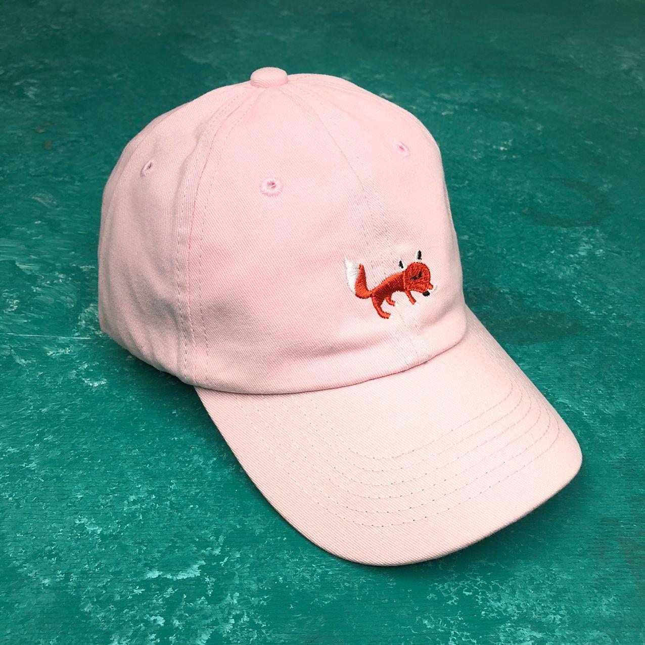 Кепка Бейсболка Мужская Женская City-A Fox с Лисой Розовая