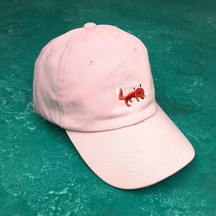 Кепка Бейсболка Мужская Женская City-A Fox с Лисой Розовая, фото 2