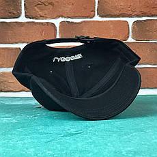 Кепка Бейсболка Мужская Женская Lacoste кожаный ремешок Черная, фото 2