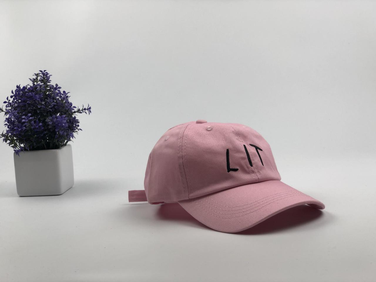 Кепка Бейсболка Мужская Женская City-A с надписью LIT Розовая