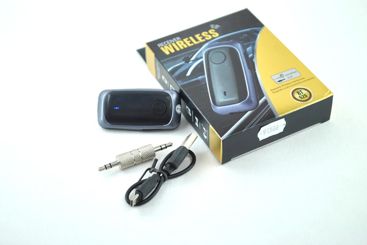 Bluetooth-адаптер блютуз-ресивер BT520 (AUX) Black