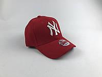 Кепка Бейсболка Мужская Женская New Era с наклейкой New York Yankees NY Красная с Белым лого