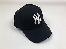 Кепка Бейсболка Мужская Женская MLB New York Yankees NY Черная с Белым лого, фото 2