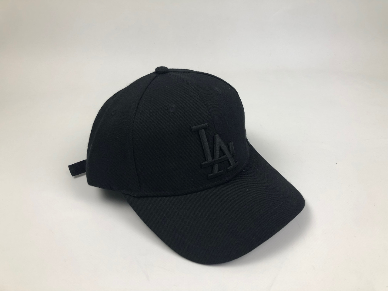Кепка Бейсболка Мужская Женская MLB Los Angeles LA Черная с Черным лого