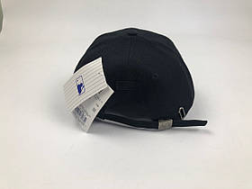Кепка Бейсболка Мужская Женская MLB Los Angeles LA Черная с Черным лого, фото 2