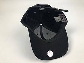 Кепка Бейсболка Мужская Женская MLB Los Angeles LA Черная с Черным лого, фото 3