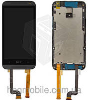 Дисплейный модуль (дисплей + сенсор) для HTC Desire 601, с передней панелью, черный, оригинал