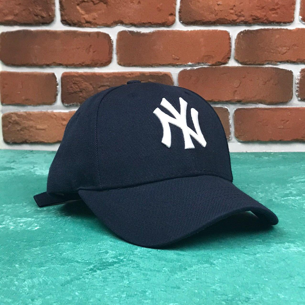 Кепка Бейсболка Мужская Женская MLB New York Yankees NY Темно-Синяя с Белым лого