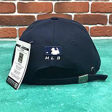 Кепка Бейсболка Мужская Женская MLB New York Yankees NY Темно-Синяя с Белым лого, фото 2