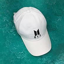 Кепка Бейсболка Мужская Женская City-A K-Pop BTS Белая, фото 2