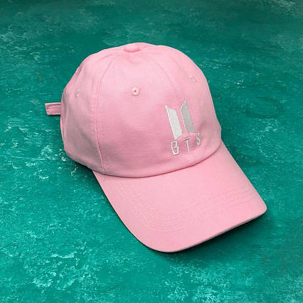 Кепка Бейсболка Мужская Женская City-A K-Pop BTS Розовая, фото 2