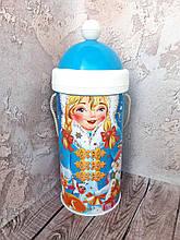 Новогодняя коробка тубус для конфет Снегурочка 500 г