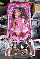 Кукла с коляской, детская игрушка пупс в металлической коляске, фото 1