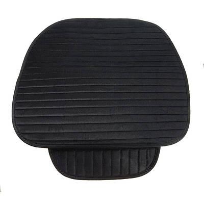 Коврик на сиденье в авто на прорезиненной основе защитный универсальный, черный