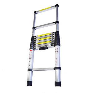 Раскладная лестница алюминиевая раздвижная 2,9 м