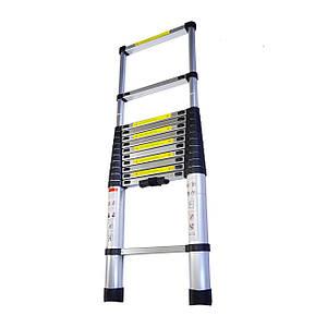 Складная лестница алюминиевая телескопическая 3,8 м
