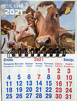 Календарь магнитный А7 на 2021 год Быка