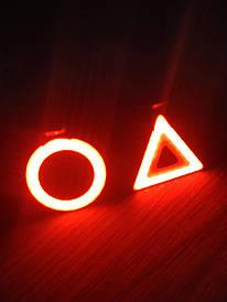 Мигалки на велосипед 5 режимов красный LED стоп сигнал