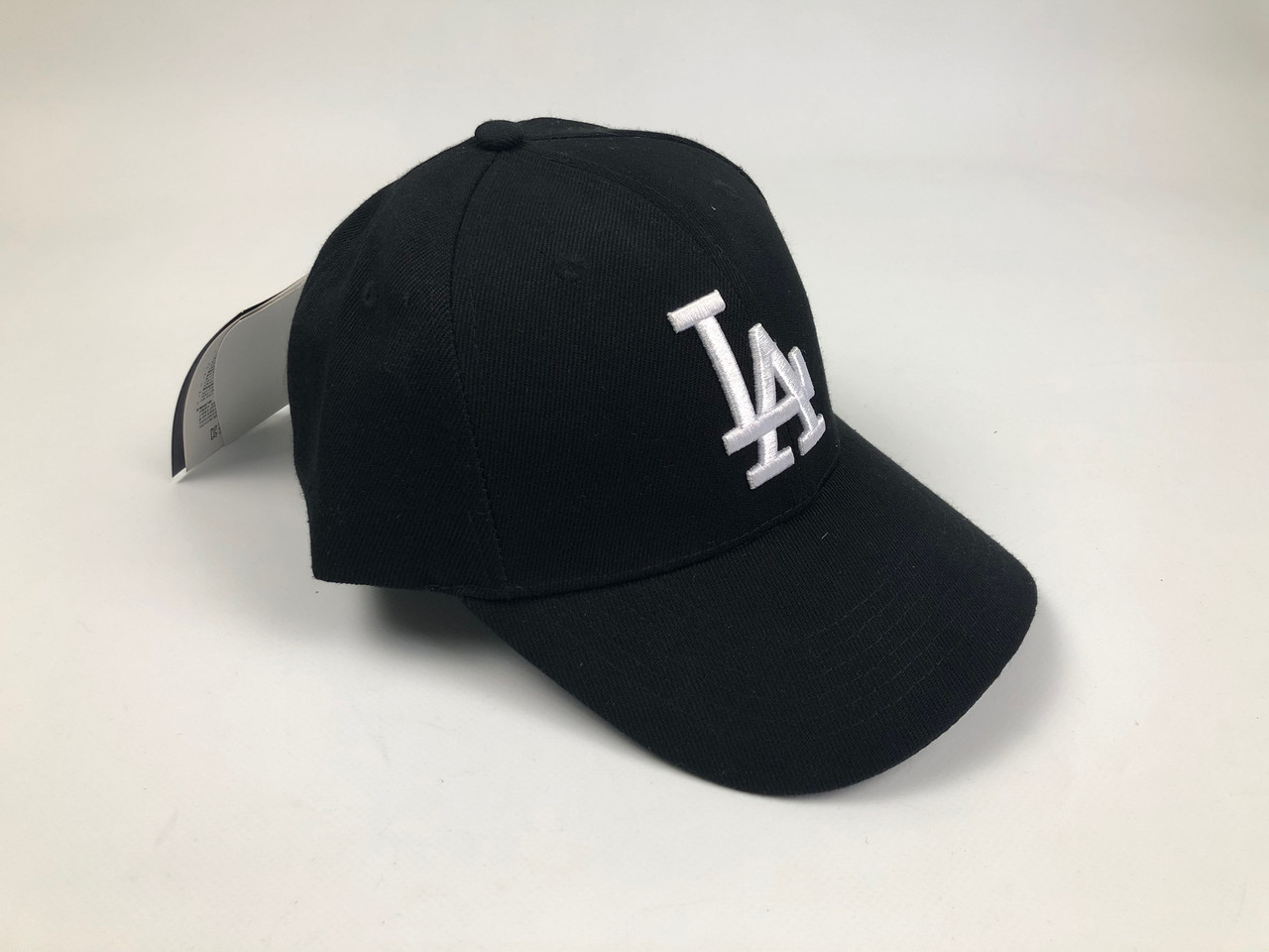 Кепка Бейсболка Мужская Женская MLB Los Angeles LA Черная с Белым лого
